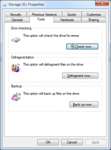 Error Checking option