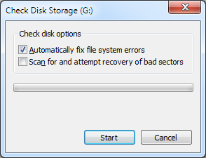 check disk window